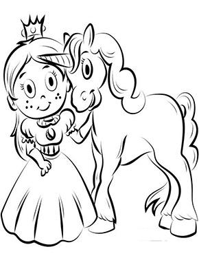 ausmalbild einhorn mit prinzessin in 2020 | ausmalbilder, ausmalen, my little pony einhorn