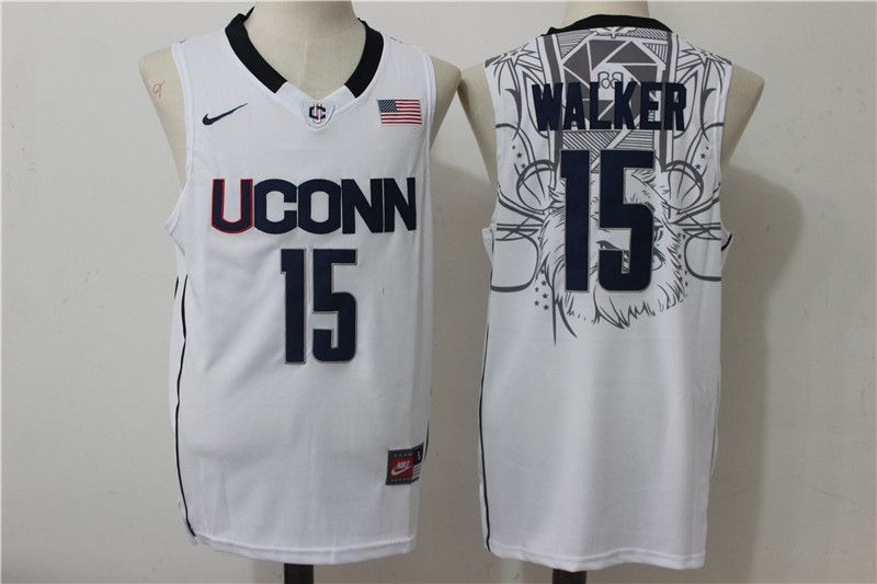 1af854276e50 UConn Huskies 15 Kemba Walker White College Basketball Jersey