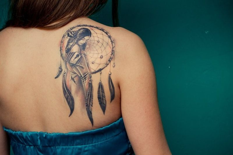 Tatouage Dreamcatcher Dos Epaule Femme Gt6e3 Tattoo Tatuajes