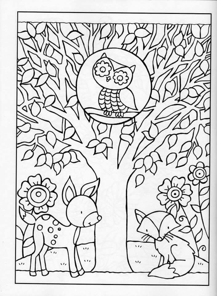 childrens fall coloring pages - photo#49