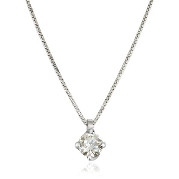 Forzieri Necklaces 0.23 ctw Diamond Flower Pendant 18K White Gold... (€1.120) ❤ liked on Polyvore featuring jewelry, necklaces, flower necklace, white gold pendant necklace, white gold necklace, box chain necklace and diamond flower necklace