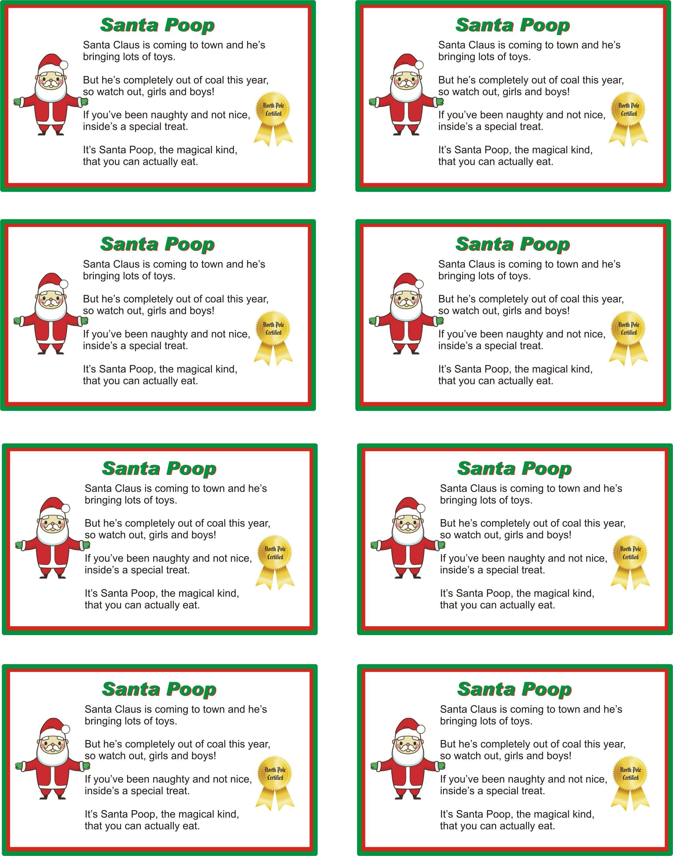 Printable Santa Poop Poem