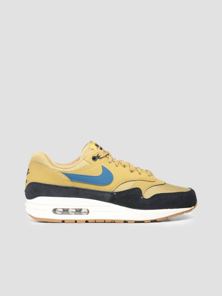 los angeles 72c0e f9942 Nike Air Max 1 Shoe Golden Moss Blue Force Black Sail Ah8145-302