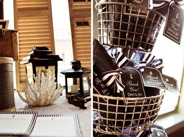 Dark nautical party | Nautical wedding favors, Wedding ...