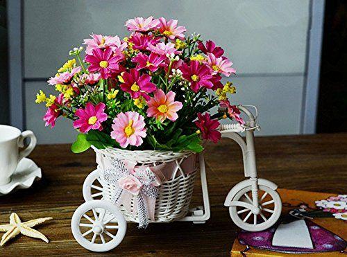 Marryqueen Plastic Artficial Fake Floral Silk Flower Whol Vases