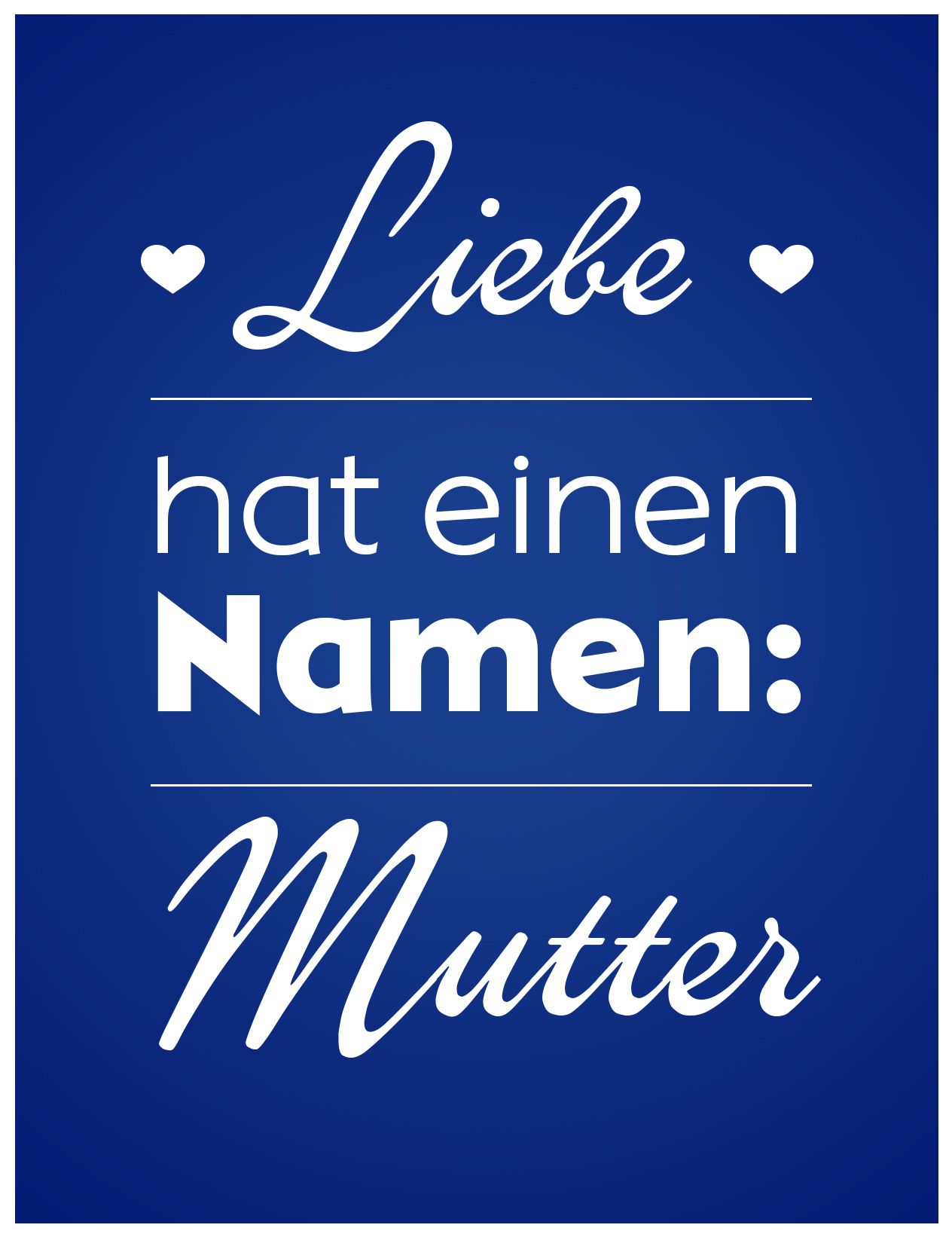 Liebe hat einen Namen! #mutter #muttertag #mother #mothersday #words ...