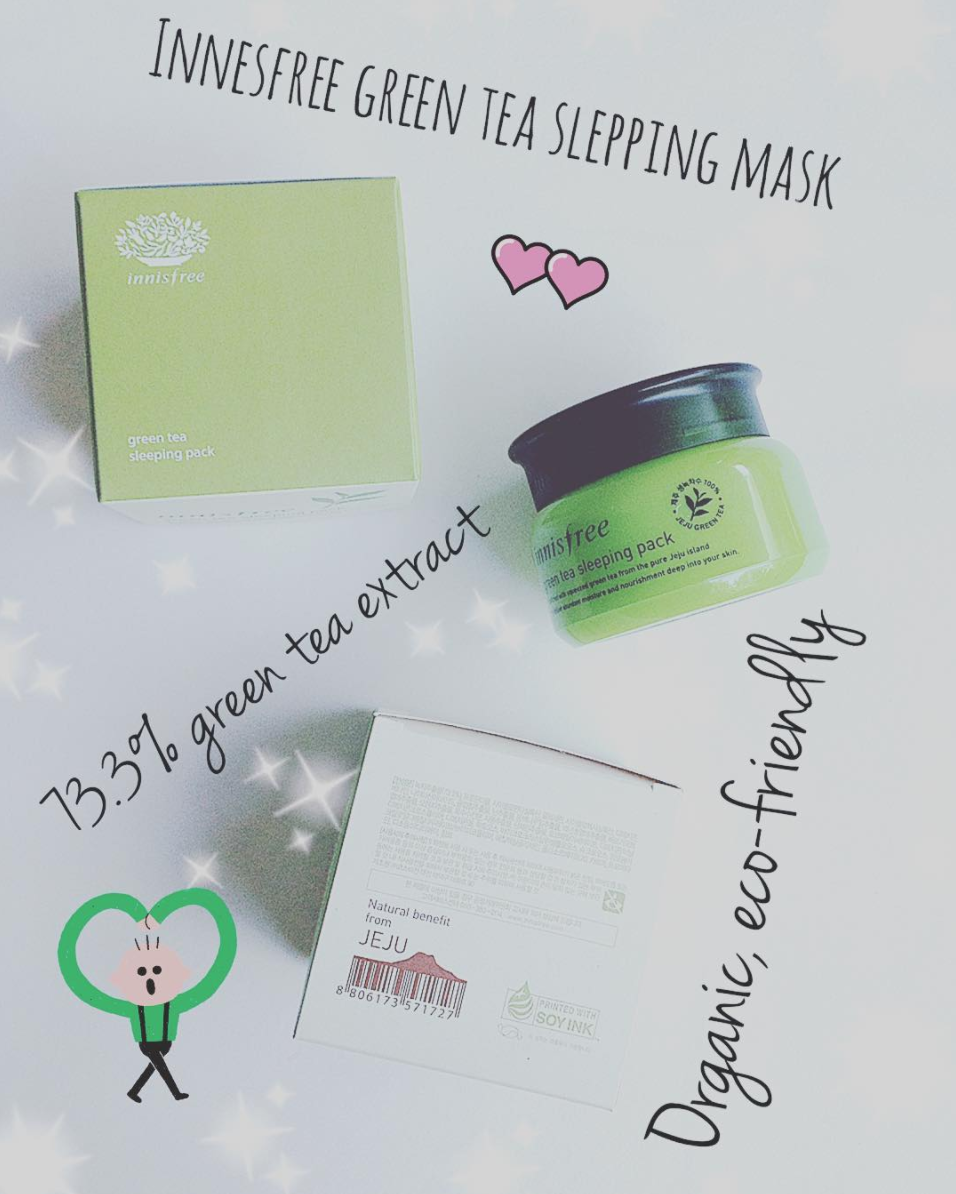 Another Great Product From Jeju Island This Innisfree Green Tea Sleeping Pack Is Work For 3 Most Common Skin Type Dry Combination And Oily