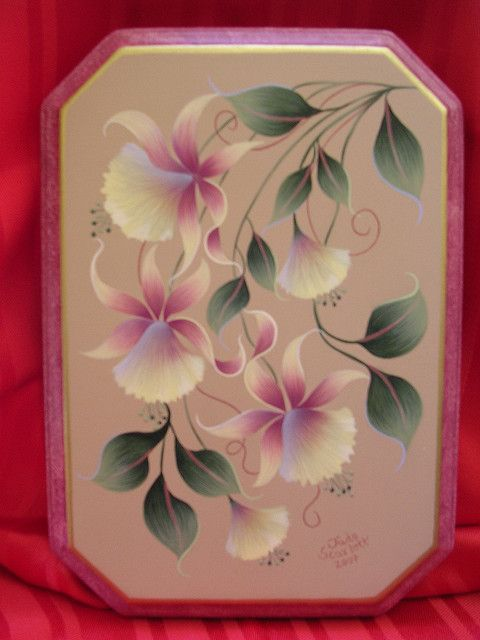 Jacobean Carnations Wooden Plaque By Jade Scarlett Flores