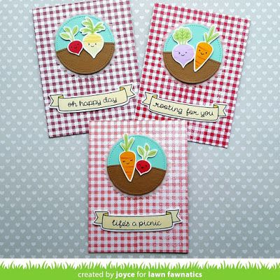 A card set I designed for the Lawn Fawnatics blog, that I created with the Rooting For You stamp set by Lawn Fawn.