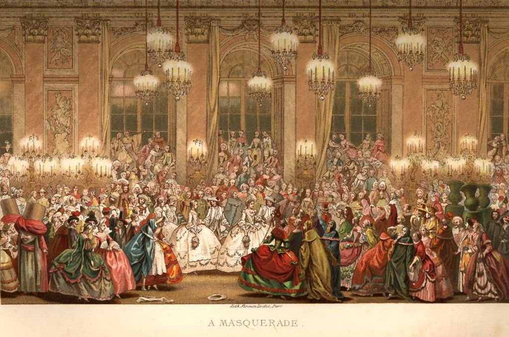French Masquerade Costume 18th Century Ball Dress Fashion u2013 Chromolithograph u2013 Circa 1876 & French Masquerade Costume 18th Century Ball Dress Fashion ...