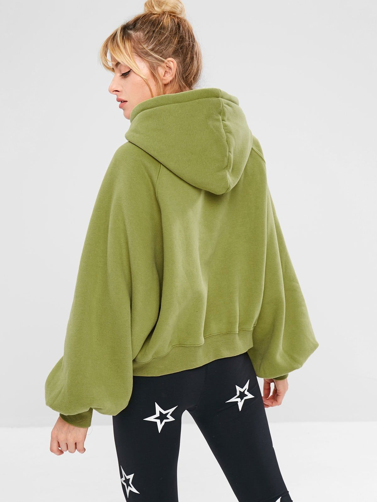 Sports Pullover Raglan Sleeve Hoodie Avocado Green Spon Raglan Pullover Sports Sleeve Green Ad Sports Jackets Women Workout Hoodie Hoodies [ 1596 x 1200 Pixel ]