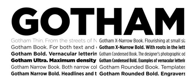 typographie gotham