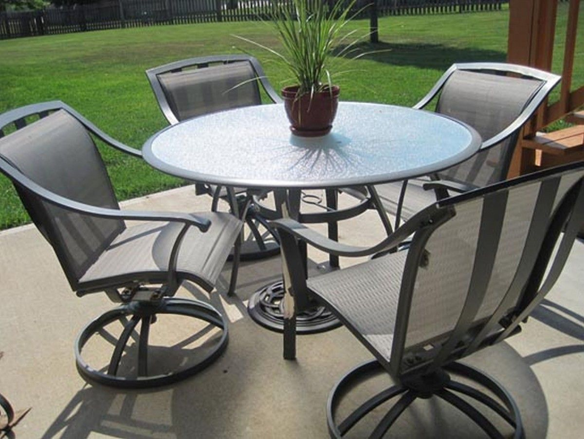 Best Round Patio Table And Chairs Furniture Black Wrought Iron