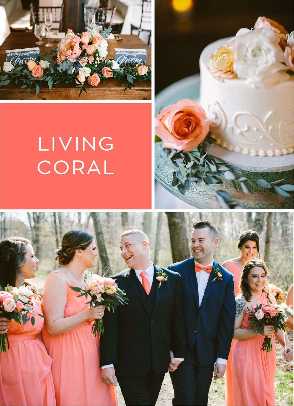 Image result for living coral color WEDDING