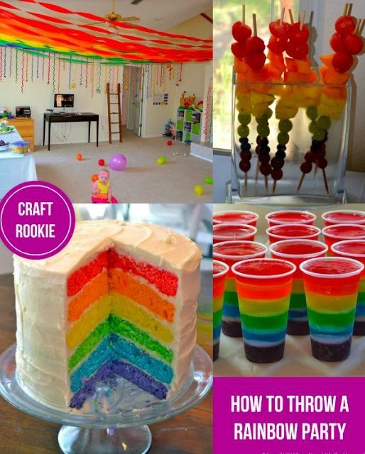 Craft Rookie How To Throw A Rainbow Party