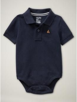 b2eafc447 ♥♥ Navy Polo Onesie with Teddy Bear Logo from Baby Gap.   Boy ...
