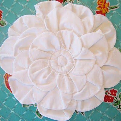 DIY aantal textiel bloemen