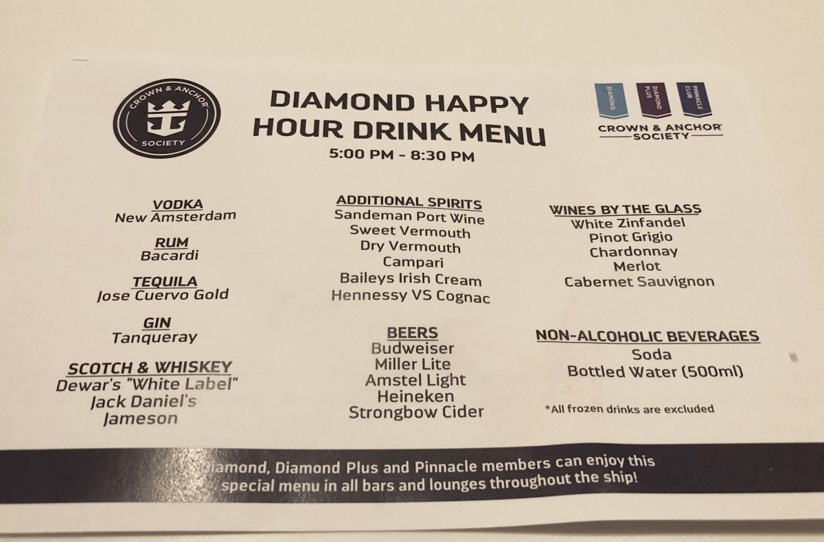 Royal Caribbean's Latest Drinks Package Guide and Drink