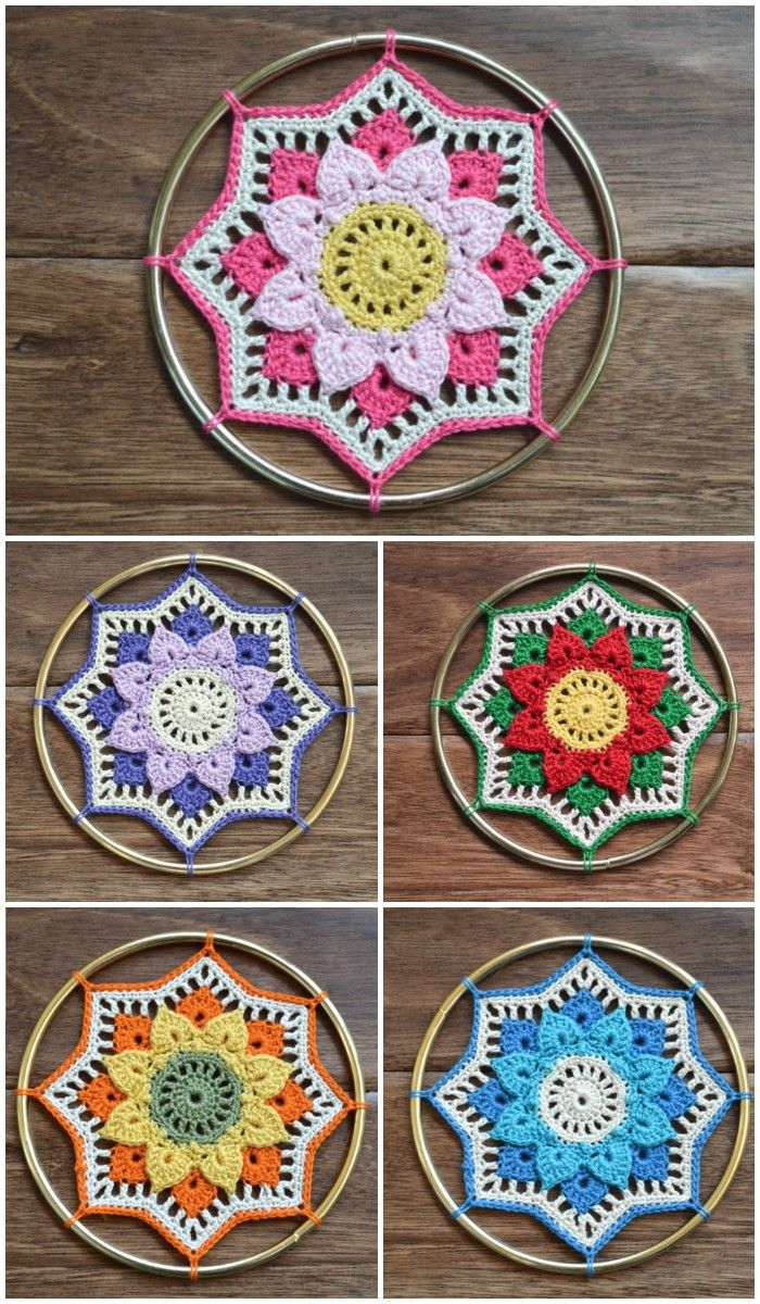 We are sharing here free crochet mandala patterns that differ from ...