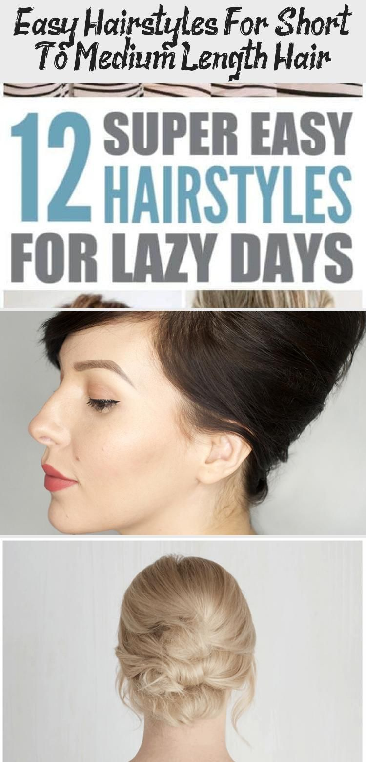 Looking For Great Ways To Style Your Short Hair Learn How To Style That Short Hair With 10 Easy S In 2020 Medium Length Hair Styles Hair Lengths Medium Length Hair Up