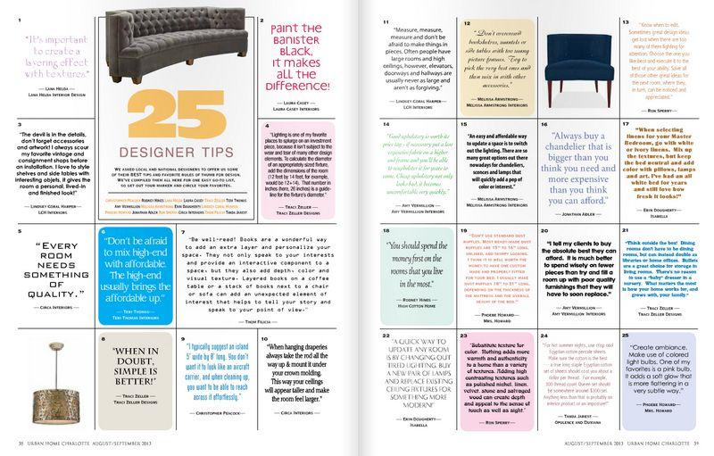 25 Designer Tips.