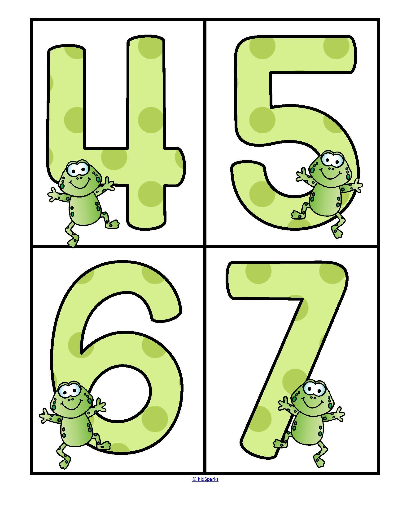 Frogs Theme Numbers 0 20 Large Flashcards Free