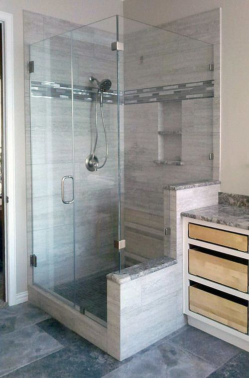 90 Degree Frameless Shower Door And Enclosure
