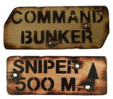 Set of 2 Army Themed Wooden Wall Signs / Bedroom Signs: Amazon.co.uk: Sports & Outdoors