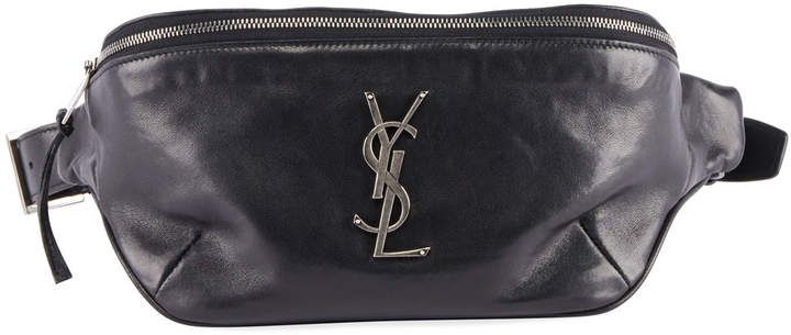 033029e5cb YSL Monogram Curved Zip-Top Belt Bag in 2019   Products   Bags ...