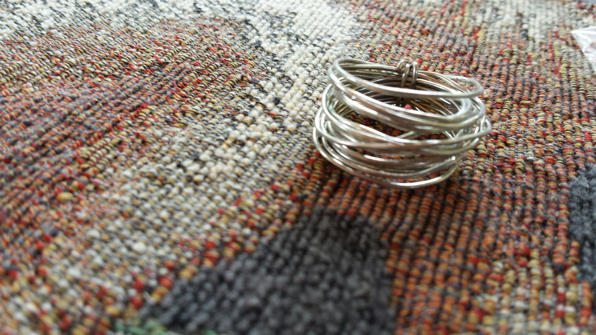 Handmade silver wire ring!