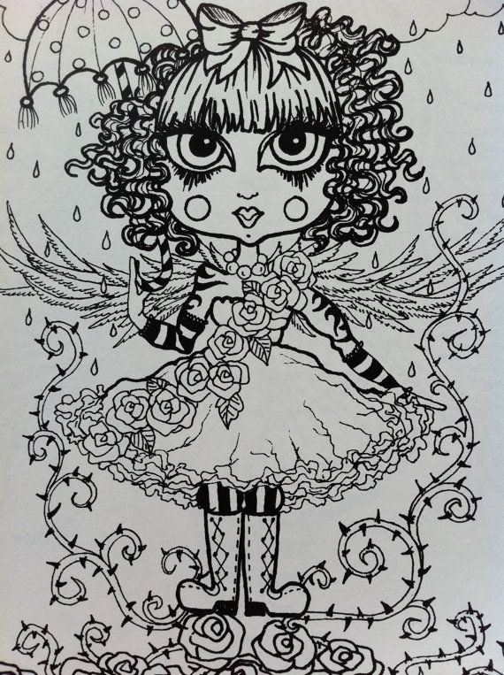 Gothic Angels ColLoRinG Book for You to Color and by ChubbyMermaid