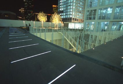 Linear led in floor lighting pj beijing jian wai soho f a pinterest soho lights and Exterior linear led lighting