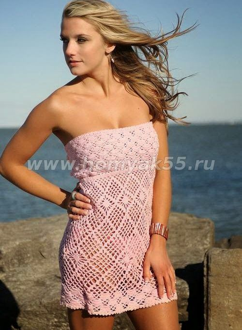 1d601ed754 Vestido de playa al crochet / patrones gratis | Crochet y Dos agujas ...