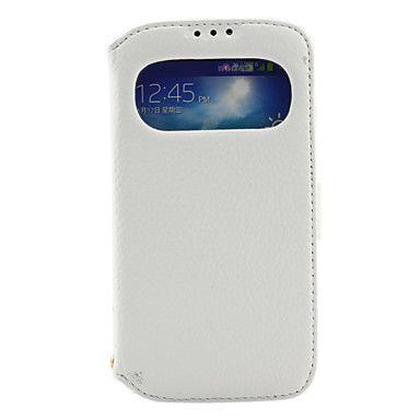 Window-ontwerp echt leer Back cover gevallen voor Samsung Galaxy S4 I9500 (verschillende kleuren) – EUR € 15.63