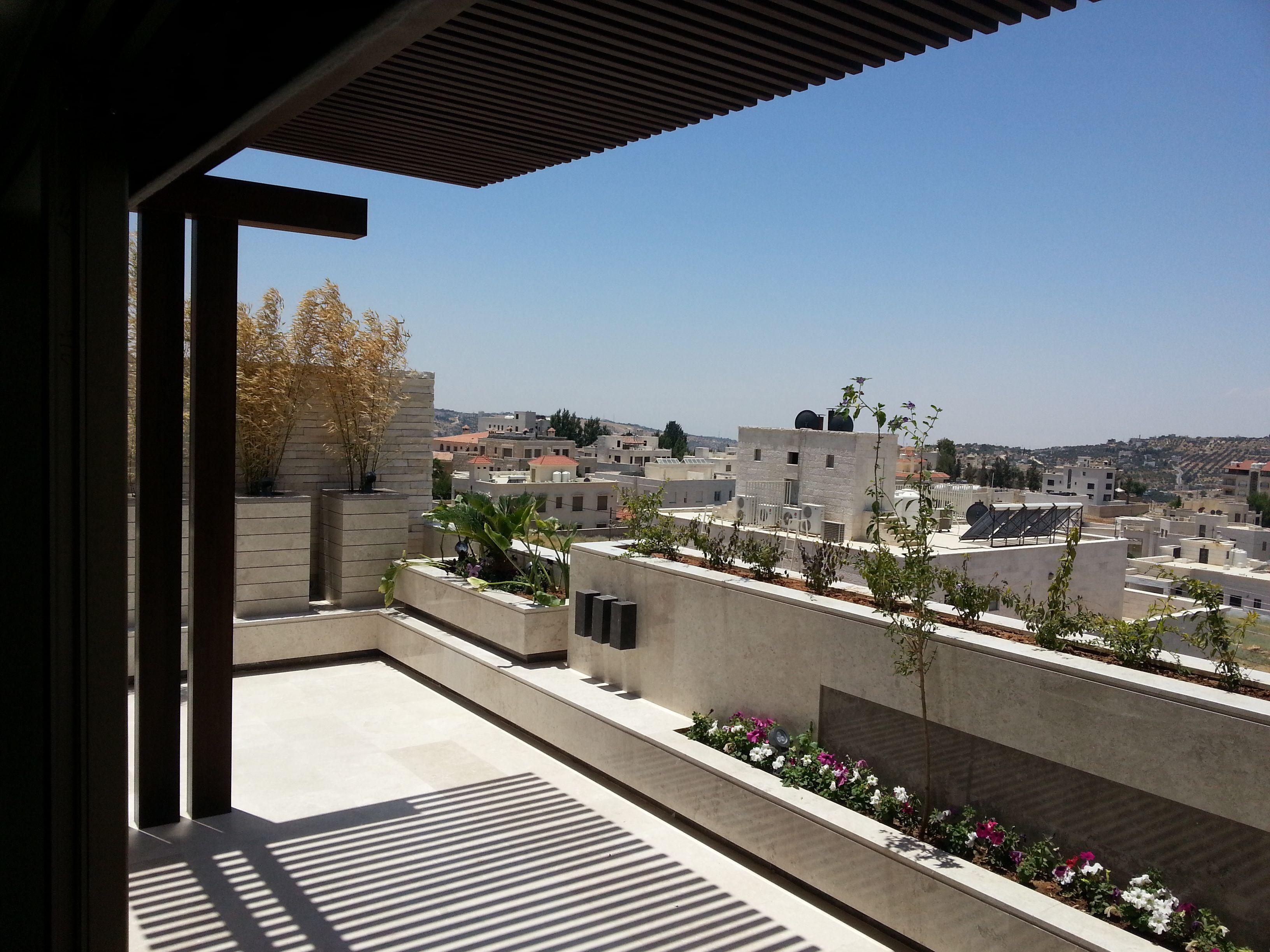 Roof Garden, design, execute, decoration, outdoor, terrace area, interior & exterior, planters, marble, gazebo & pergula
