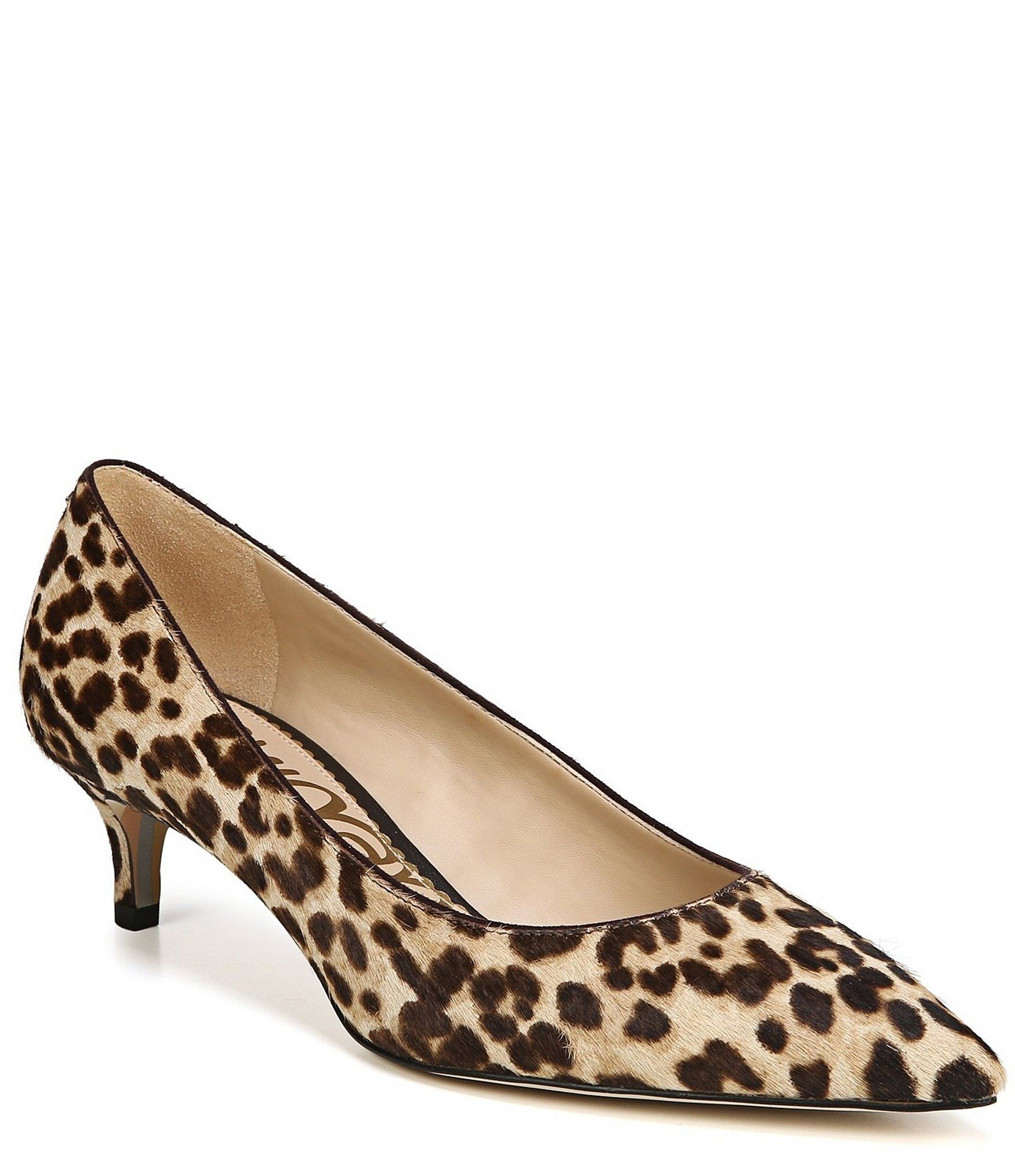 Sam Edelman Dori Leopard Print Kitten Heel Pumps Dillards Kitten Heels Kitten Heel Pumps Sam Edelman Shoes