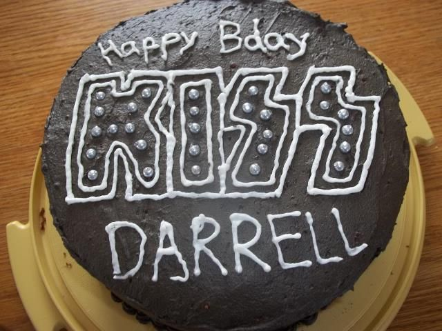 Kiss cake I made for my husband