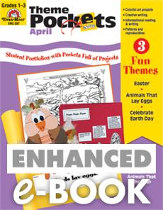 Theme Pockets, April, Grades 1-3 – Teacher Resource, E-book | Spring