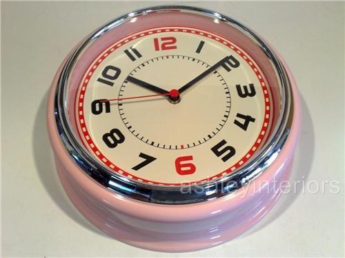 Vintage Clock I Remember These Pink Wall Clocks Retro Wall Clock Retro Pink