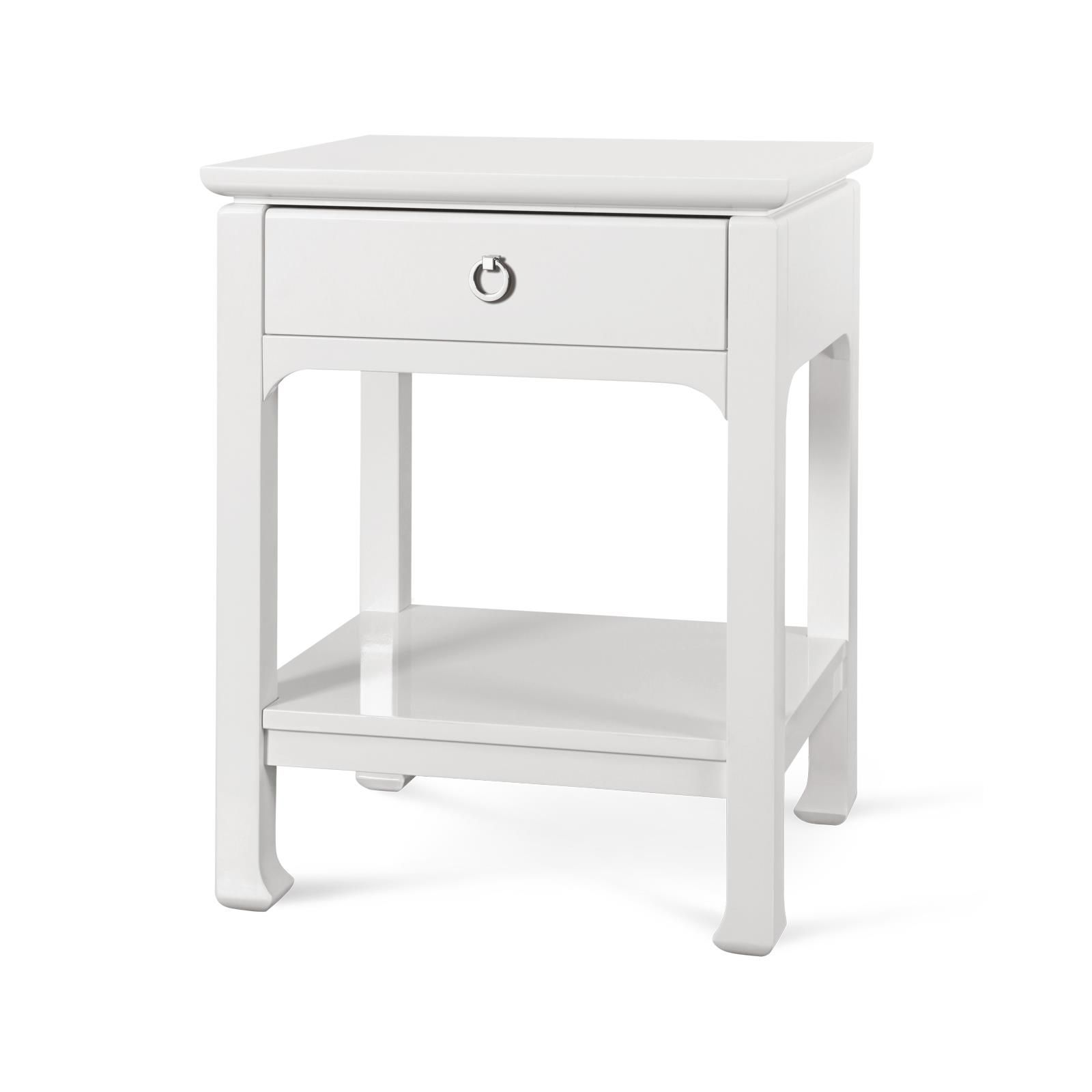 Harlow 1 Drawer Side Table, White  Bungalow 5