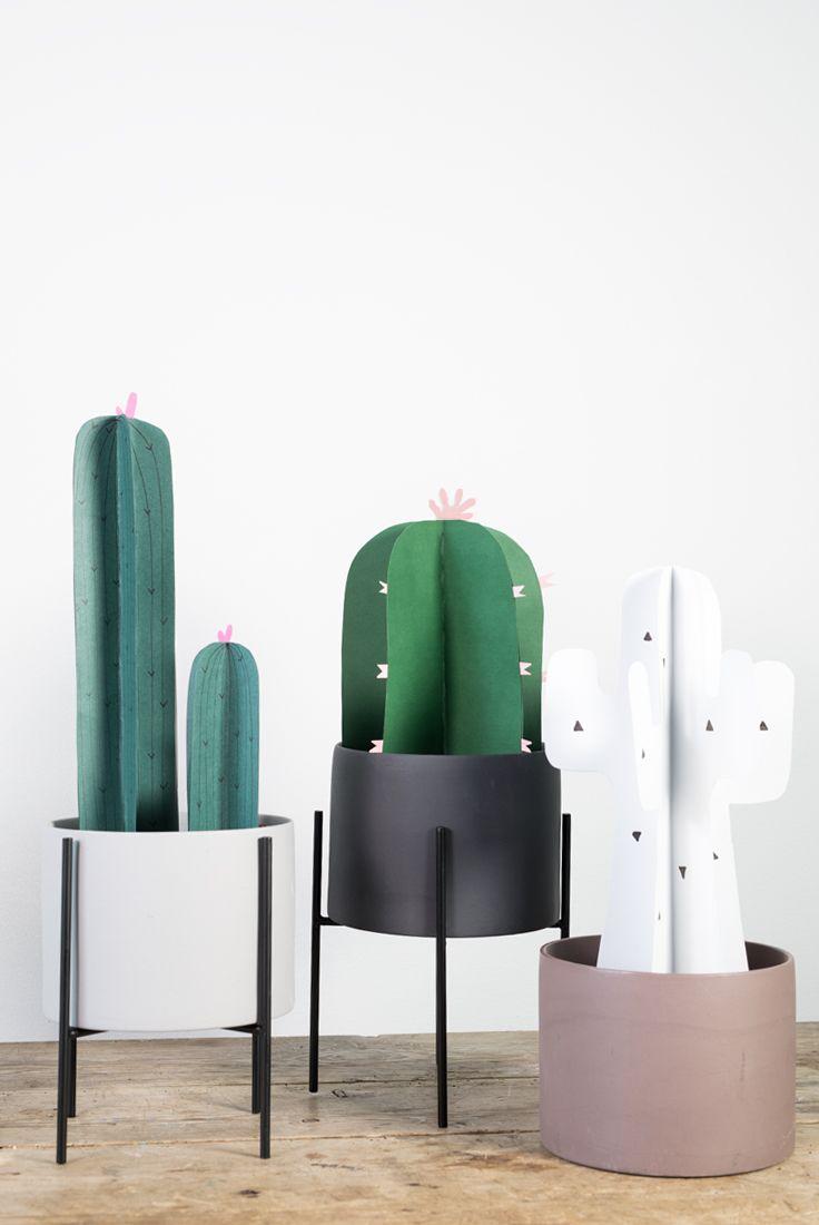 DIY paper cactus. A decorative paper cactus craft idea for your home ...