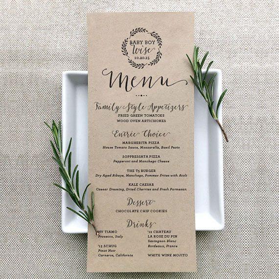 Custom Individual Menus For Each Guest. #wedding