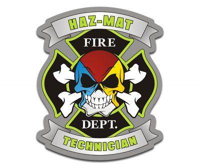 HAZ-MAT Technician HazMat Firefighter Sticker Decal Fire life