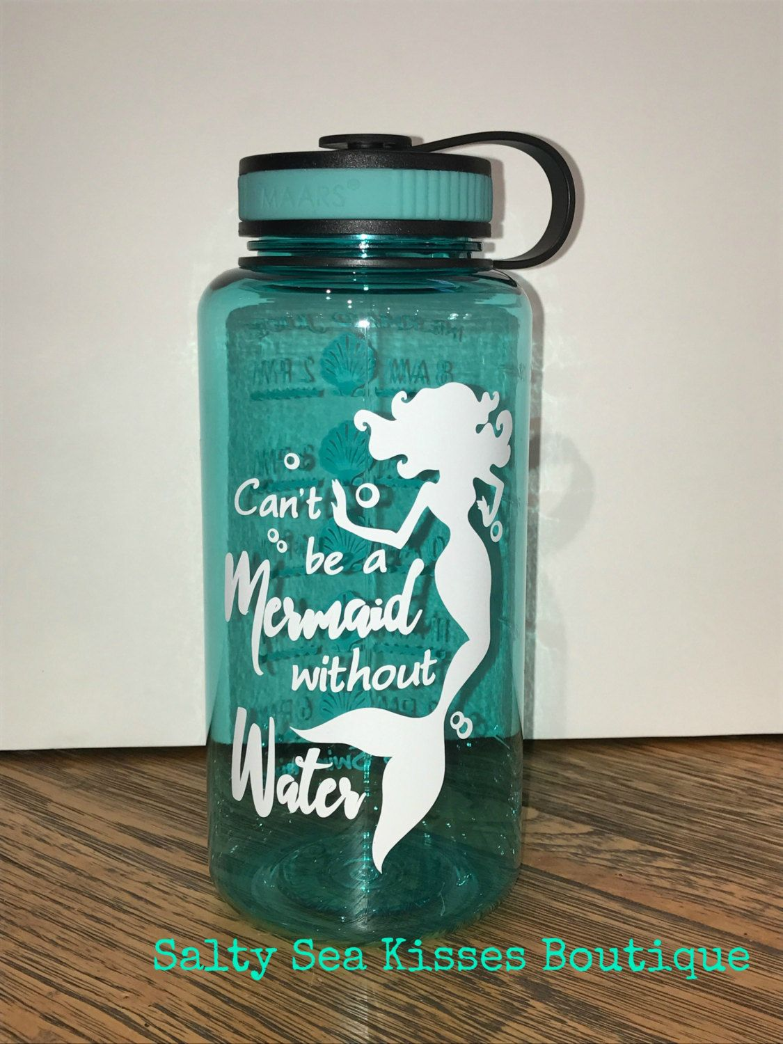 Can\'t be a Mermaid without Water 34 oz water tracker BPA Free Water ...