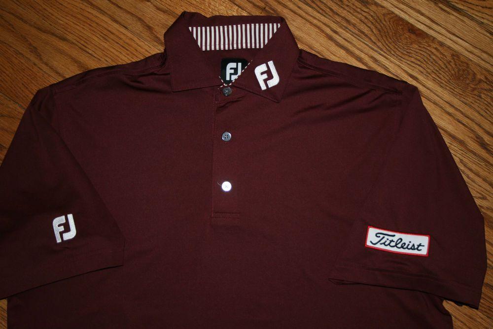 FJ FOOTJOY Titleist Golf Polo Shirt-Men's Medium-polyester spandex/sport /casual
