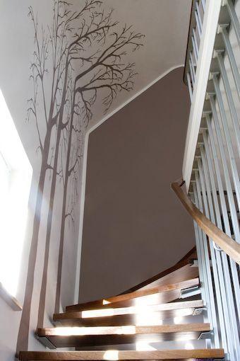 Wandgestaltung Flurtreppe #Ecke #Design #Treppe – Wandgestaltung Kinderzimmer
