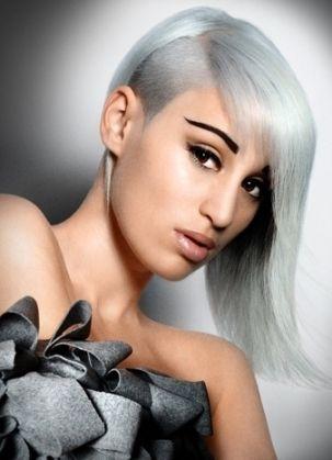Super Short Gray Hairstyles Bold Hair Color Silver White Hair Hair Styles