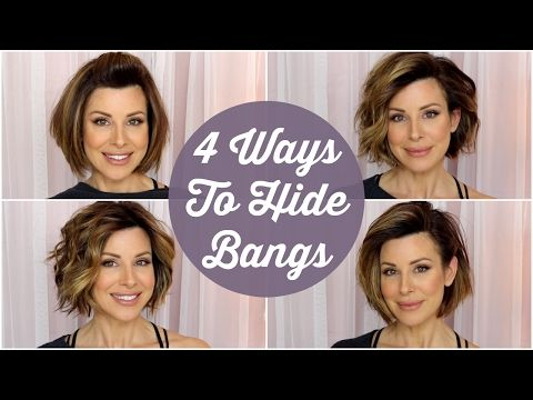 4 Quick Ways To Hide Your Bangs Youtube Short Hair Tutorial Blowout Hair Tutorial Short Hair Styles