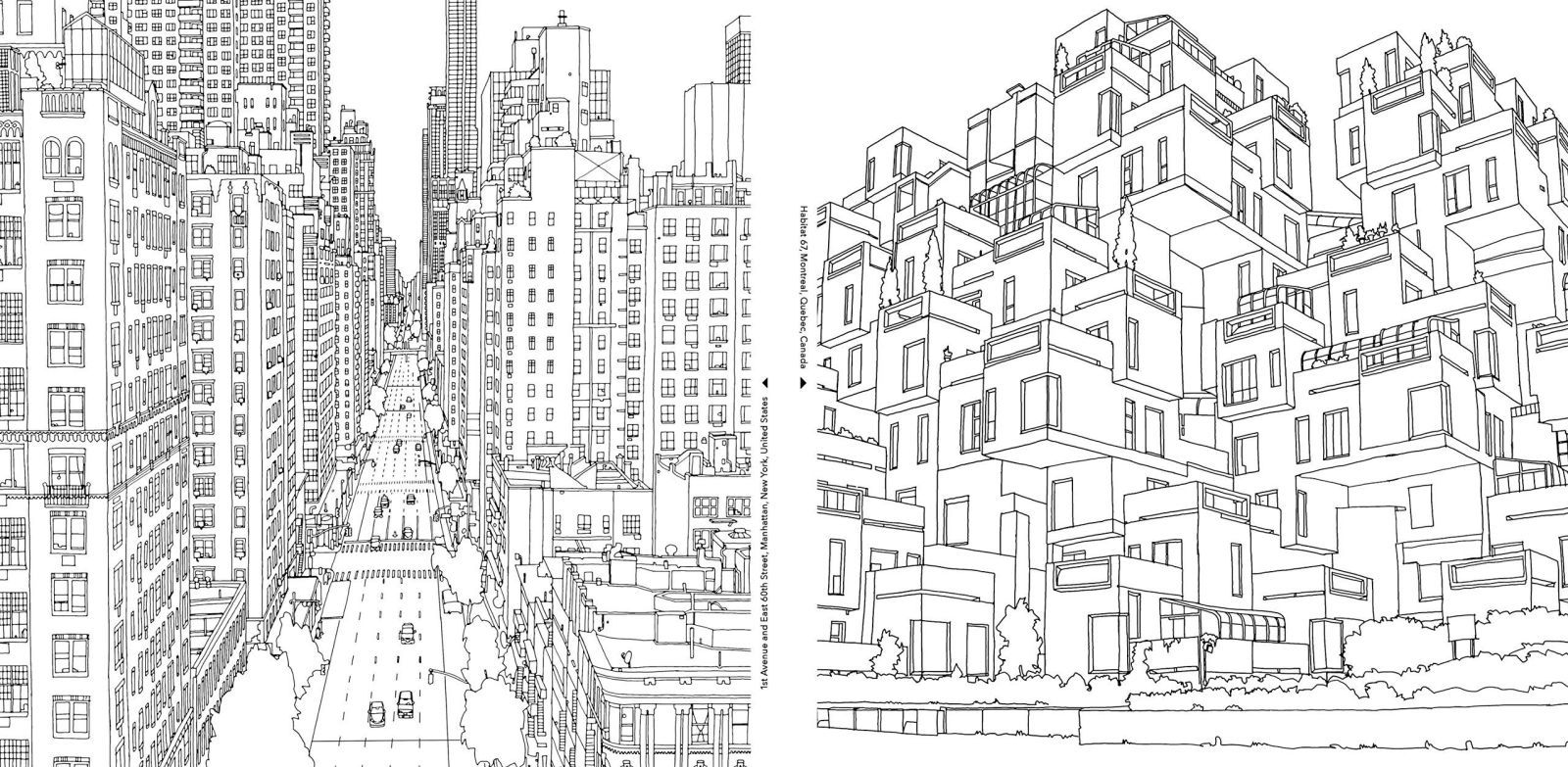 A Grown Up Coloring Book For Big City Lovers Fantastic Cities Coloring Book Coloring Books Coloring Pages
