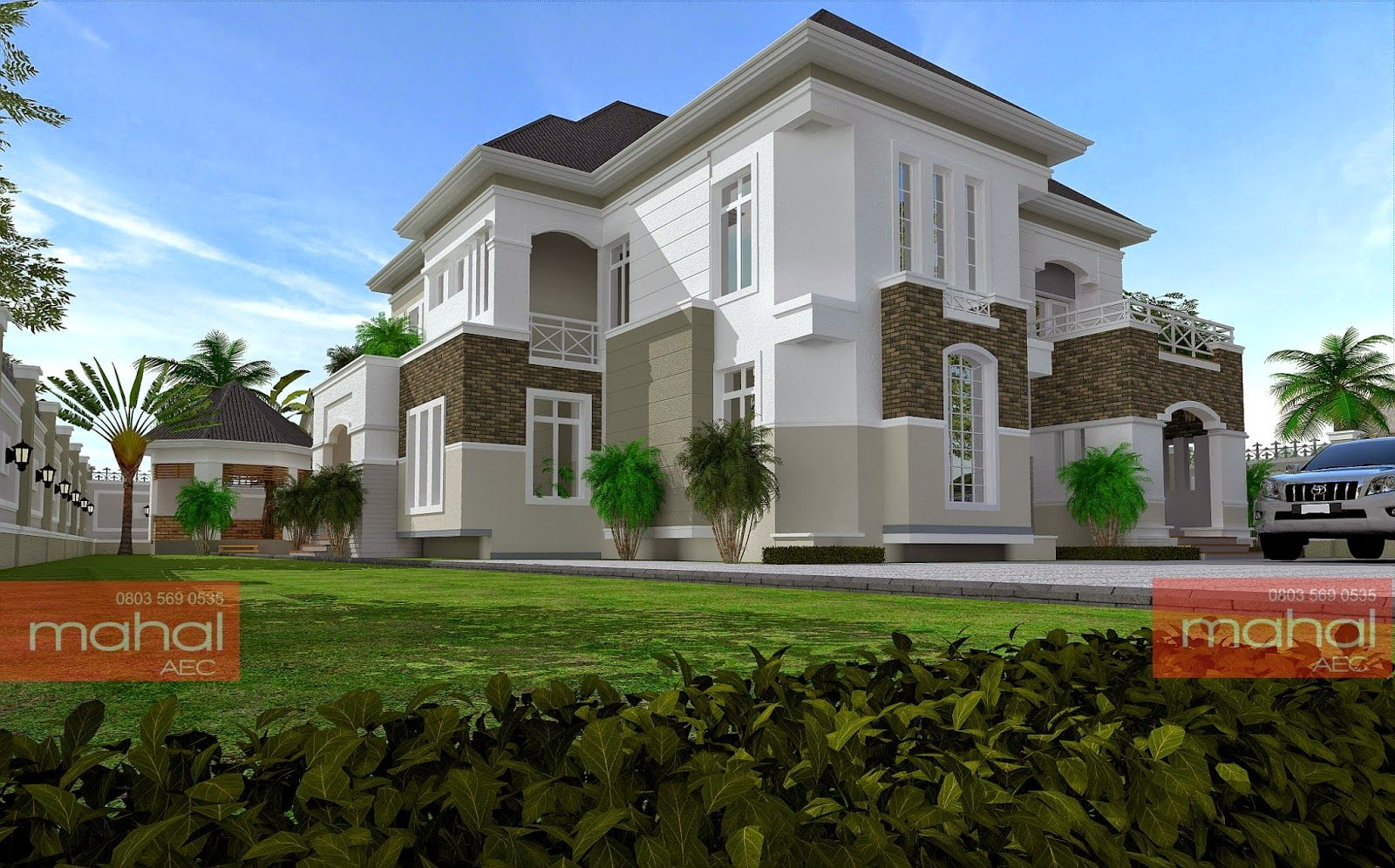 Surprising Contemporary Nigerian Residential Architecture Lucky In Home Interior And Landscaping Ologienasavecom